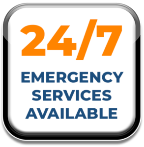 24/7 emergency services available icon